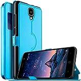 DOOGEE X10 Hülle, KuGi DOOGEE X10 Premium PU Leder Kasten für DOOGEE X10 Smartphone (Blau)