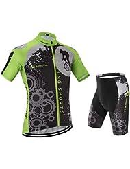 JUNGLEST / Camisetas de ciclismo / manga corta / hombres / 3D Cojín / XL