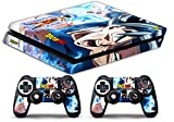 Skin Ps4 SLIM - DRAGONBALL GOKU ULTRA ISTINCT - limited edition DECAL COVER Schutzhüllen Faceplates playstation 4 SONY BUNDLE