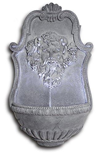 Ambiente Wandbrunnen Zeus in Blei-Optik mit LED-Beleuchtung, 83cm