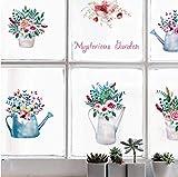 Topfpflanze Blume Abnehmbare selbstklebende Schlafzimmer Wohnzimmer Küchenschrank Wandbild Wandaufkleber Aufkleber Dekor Poster