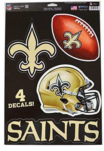 Wincraft Snack-Schale Offizielles National Football League Fan Shop Lizenzierte NFL Shop Multi Aufkleber (New Orleans Saints) -
