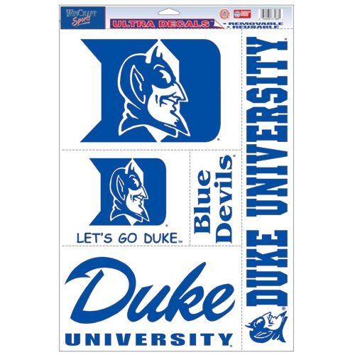 NCAA Duke University Ultra Aufkleber, 11 x 17 cm (Halloween Ohio State University)