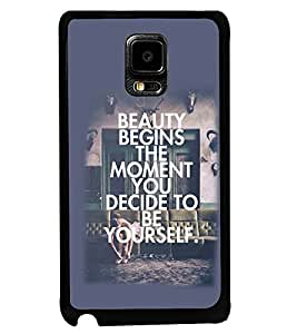 PRINTSWAG SLOGAN Designer Back Cover Case for SAMSUNG GALAXY NOTE EDGE