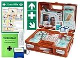 """Erste-Hilfe-Koffer Quick -Komplettpaket- mit""""Notfallbeatmungshilfe"""" für Betriebe DIN"""