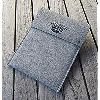 zigbaxx Tablet Hülle CROWN1 Case Sleeve Filz u.a. für iPad 9.7, iPad Pro 9,7/10,5/11 Zoll (2018), iPad mini 2/3/4, iPad Air, 100% Wollfilz pink schwarz beige grau braun - Geschenk Weihnachten