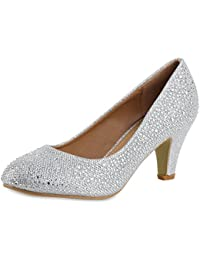 topschuhe24 Zapatos de Vestir de Tela Para Mujer, Color Negro, Talla 36