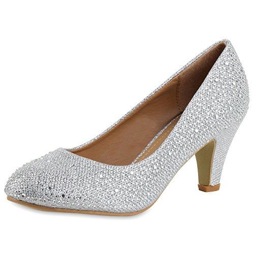 Napoli-fashion scarpe chiuse donna, argento (argento), 37 eu