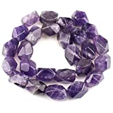 "Natural Gemstone Twist Loose Beads 16 "", amatista"