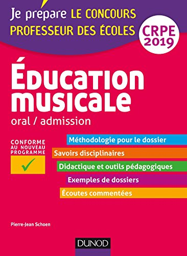 Education musicale - Oral / admission - CRPE 2019 par Pierre-Jean Schoen