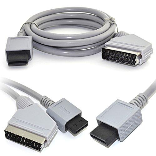 BisLinks Sostituzione Grigio 1.8m RGB Scart Video HD HDTV AV Cord Lead Cavo Adattatore per Nintendo Wii/Wii U Video Gioco