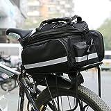 Eshow Polyster Gepäcktasche Gepäckträgertasche Radtasche Fahrradtasche 34*16*22