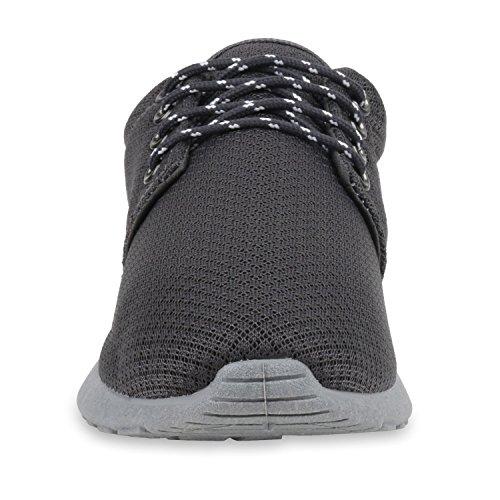 Modische Herren Sportschuhe | Freizeit Sneaker Snake | Laufschuhe Runners Trainers | Sneakers Schuhe Grau Grau