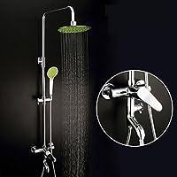 BY-Contemporanea moderna rame doccia rubinetto, doccia rubinetto terza marcia, sottile piano personalizzato rotondo,