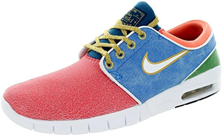 Nike Men's Stefan Janoski Max L QS Skate Shoe, Rio/White/Photo Blue, 44 D(M) EU/9 D(M) UK