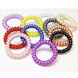 Miya 10Set Top calidad, super Schön Caramelos Color, cintura elástica Cable Telefónico Coletero Goma, pelo, espiral, de plástico, Teléfono, de pulsera