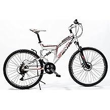 Bicicleta de aluminio con doble suspensión y frenos de disco