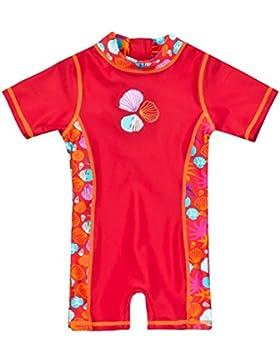 Landora Baby- / Kleinkinder-Badebekleidung Einteiler mit UV-Schutz 50+ und Oeko-Tex 100 Zertifizierung in rot...