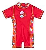Baby-Badebekleidung Einteiler mit UV-Schutz 50+ und Oeko-Tex 100 Zertifizierung in rot; Größe 110/116