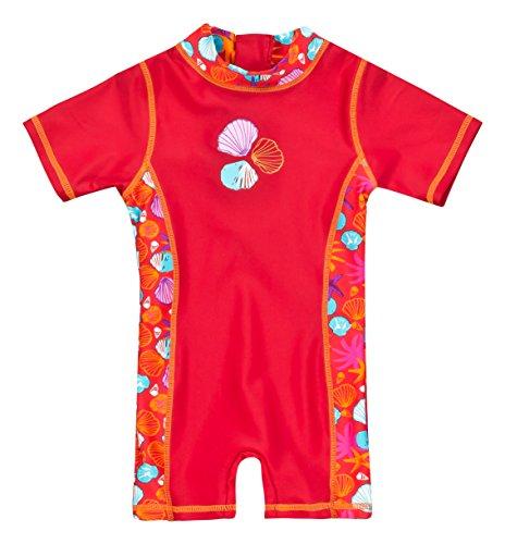 Landora Baby-Badebekleidung Einteiler mit UV-Schutz 50+ und Oeko-Tex 100 Zertifizierung in rot; Größe 98/104
