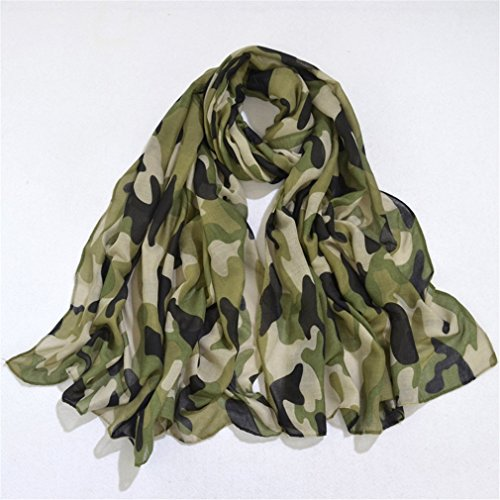 YAN Männer und Frauen Schal Schal Camo Voile Schal Warm Dekorative Große Outdoor Druck Schal 180 * 90 cm (Color : Green) Mate, Camo