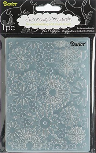 Darice 1217-41  Prägeschablone, Flower Frenzy, Plastik, transparent, 10,8 x 14,6 x 0,4 cm Sizzix-stanzformen Für Die Big Shot Pro