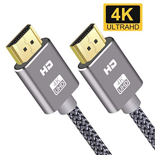 Cable HDMI 4K 2M SUCESO Cable HDMI 2.0 de Alta Velocidad Trenzado...