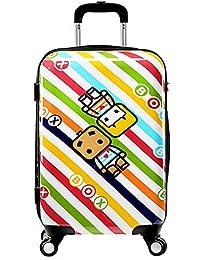 FRF Caja de la Carretilla- Maleta Trolley de Dibujos Animados para niños, Maleta con Ruedas de mudanza de 20/24 Pulgadas (Color : A,…