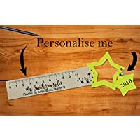 Personalised Teacher Bookmark Ruler - Great School Leaving Gift!