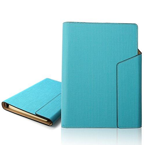 ss Notizbuch PU nachfüllbar Business rund-Ring-Binder Bezug Notebook mit 100Blatt liniert Filler Papier A5 (Pu-binder)