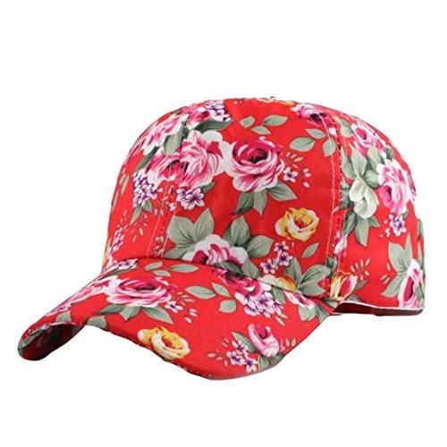 16ce5ac889e1 SanKidv Frauen Baseballmütze Hysteresen hut Hip Hop Einstellbar Damen  Blumenmuster Baseballcap Sonnenhut Caps Sonne Geschützter Bunt
