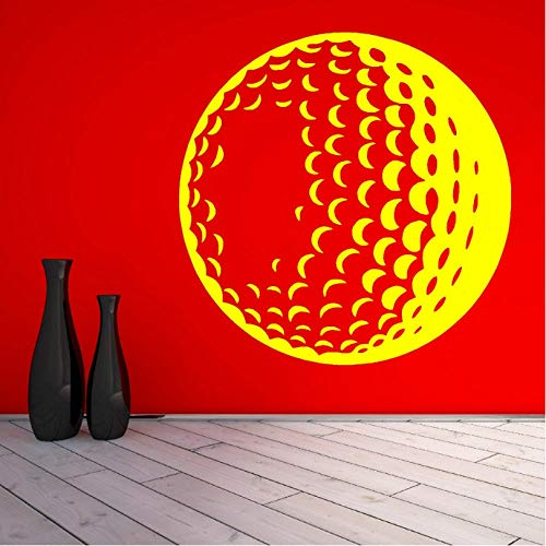 wandaufkleber küche 3D Ansichten Golf Ball Vinyl Kunst Wandbild Home Wohnzimmer Dekoration Wandaufkleber Sport Thema Serie Wandbild 57 * 57 cm (Golf-themen-dekorationen)