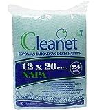 Cleanet: esponja jabonosa desechable napa 12x20cm 90grs. 20 paquetes x...