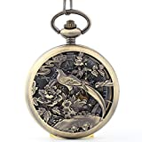 Phoenix Cheung Jixiangyiyi Clamshell Hollow Mechanical Pocket Watch Men and Women He Shou Gifted Elderly Antique Taku Table