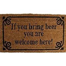 Cerveza - If You Bring Beer You Are Welcome Here! Estilo Retro Felpudo Alfombrilla (70 x 40cm)