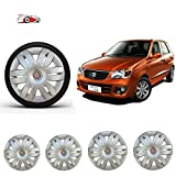#3: WSS car care Car Wheel Cover Caps 12 Inches Press Type Fitting For Maruthi Suzuki ALTO-Silver