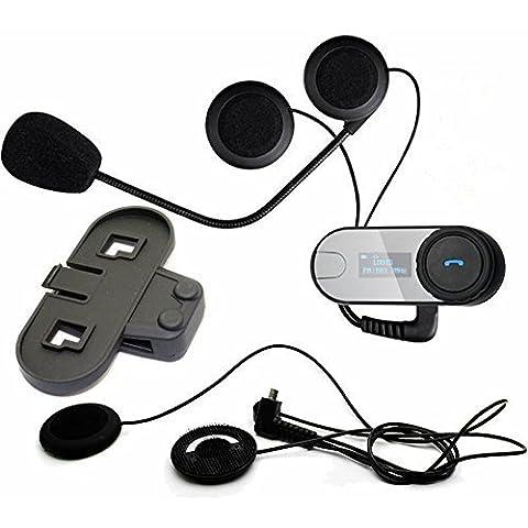 Boblov TCOM-SC W / Pantalla de intercomunicación Bluetooth intercomunicador del casco de la motocicleta 800M intercomunicador del casco de auriculares (TCOM*1+Soft