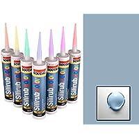 Blu Pastello Silicone Mastice resina Soudal Sigillante RAL 5024 upvc bagno esterno