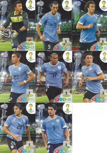 FIFA World Cup 2014 Brazil Adrenalyn XL Uruguay Base Card Team Set -
