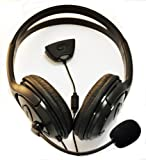 Black xbox 360 headphones headset with microphone live chat, black xbox headphones, XBox 360 Large Style Headset (Earphone & Microphone) For xBox 360 Online Gaming with Foam Ear Pieces for Comfort and Adjustable Mic Arm & Volume Control by pjp electronics�
