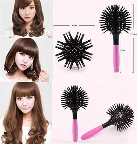 Takestop® 360 gradi spazzola 3d sfera volume capelli pettine styliing ricci piega accessori