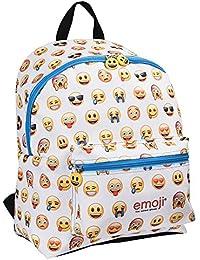 PERLETTI 13624 - Mochila Emoji con bolsillo frontal 40x30x18cm