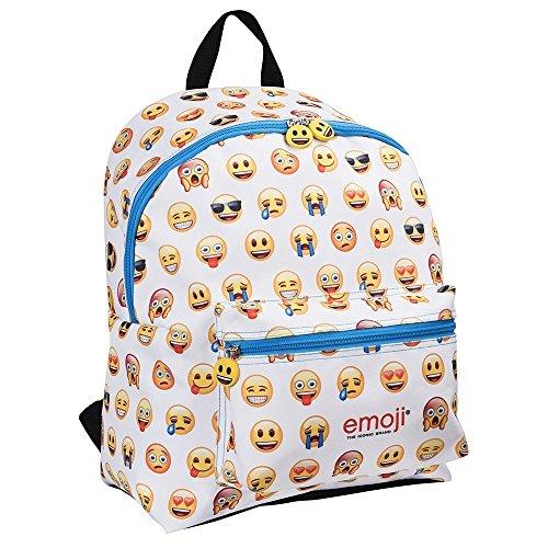 Perletti 13624 - zaino con tasca frontale emoji, 40x30x18cm