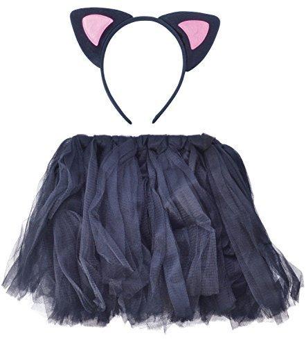 Ragazze Fascia Capelli Tutu Halloween Festa In Maschera Vestito Kit Accessori - Cat, one size