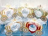 Subito disponibile STOCK 10 PEZZI Design Carrozza Scatola portaconfetti porta confetti con