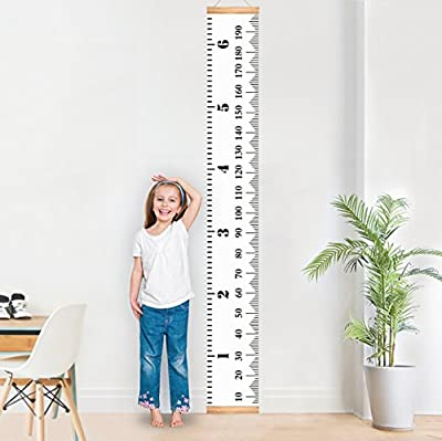 Baby Growth Chart Canvas Wall Hanging Rulers for Kids Boys Girls Room Decoration Nursery Removable Height and Growth Chart 7.9 x 79 inch produced by Mibote - quick delivery from UK.