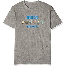 Boca Juniors Camiseta de hombre con diseño de logos de la historia, pequeña, hombre