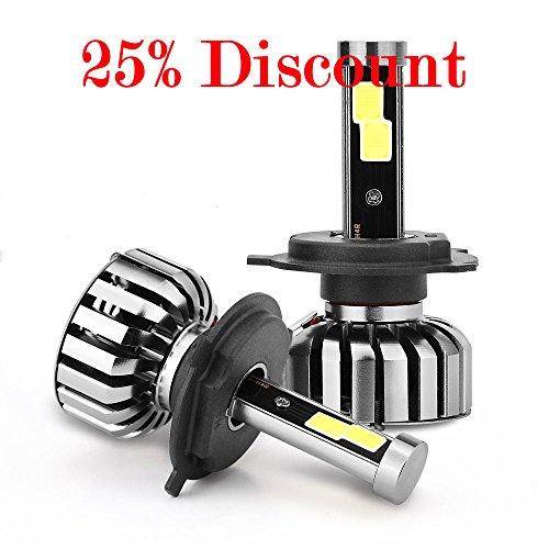 Preisvergleich Produktbild H4 Hi / Low led autoscheinwerfer 6000K 80W COB LED Scheinwerfer Fit Frontscheinwerfer Auto Birne Licht Lampe 8000LM (2 Stück)
