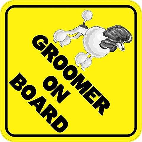 StickerTalk® Brand 6in x 6in Dog Groomer On Board Magnet