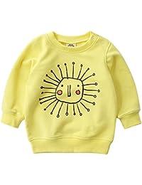 Sudadera para Niños Bebe Algodón Camisetas Sweatshirt Pull-over Tops Ropa 1-6 Años
